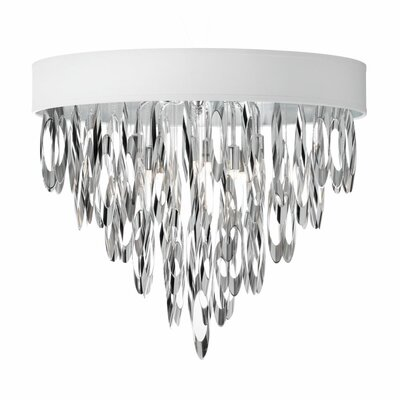 Allegro 4-Light Flush Mount Shade Color: White