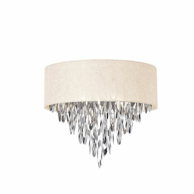Allegro 4-Light Flush Mount Shade Color: Cream