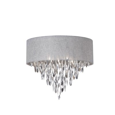 Allegro 4-Light Flush Mount Shade Color: Gray
