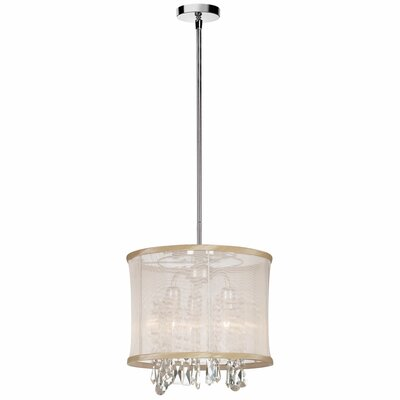 Bohemian 3-Light Drum Pendant Shade Color: Oyster