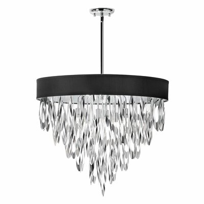 Allegro 8-Light Drum Pendant Shade Color: Black