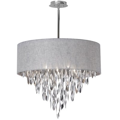Allegro 8-Light Drum Pendant Shade Color: Gray