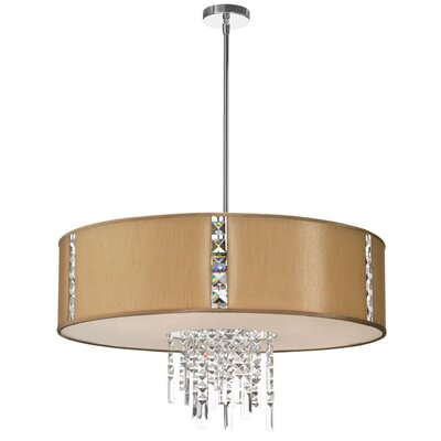 Rita 4-Light Drum Pendant Shade Color: Latte