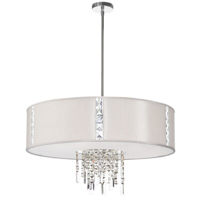 Rita 4-Light Drum Pendant Shade Color: Pearl