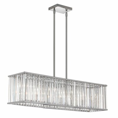 Aruba 7-Light Kitchen Island Pendant Finish: Polished Chrome