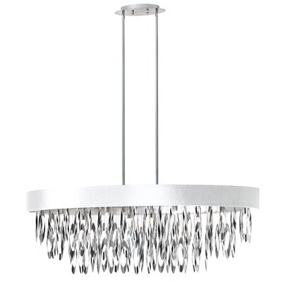Allegro 8-Light Drum Pendant Shade Color: White