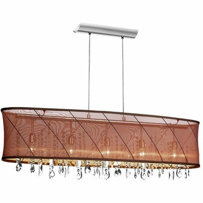 Saffron 5-Light Kitchen Island Pendant Shade Color: Brown