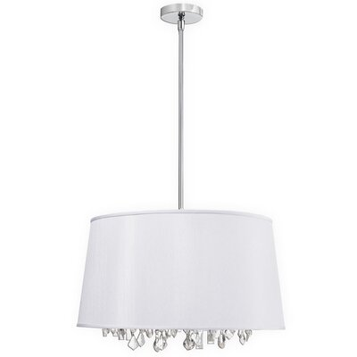 Baroness 6-Light Geometric Pendant Shade Color: White