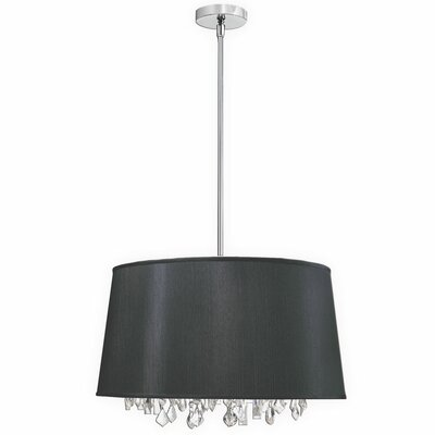 Baroness 6-Light Geometric Pendant Shade Color: Black