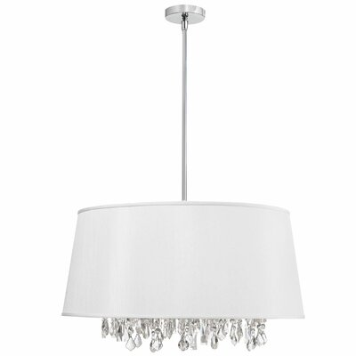 Baroness 8-Light Geometric Pendant Shade Color: White