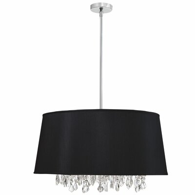 Baroness 8-Light Geometric Pendant Shade Color: Black
