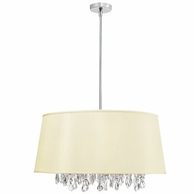 Baroness 8-Light Geometric Pendant Shade Color: Ivory