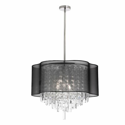 Illusion 6-Light Geometric Pendant Shade Color: Black