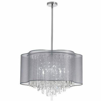 Illusion 8-Light Crystal Pendant Shade Color: Silver