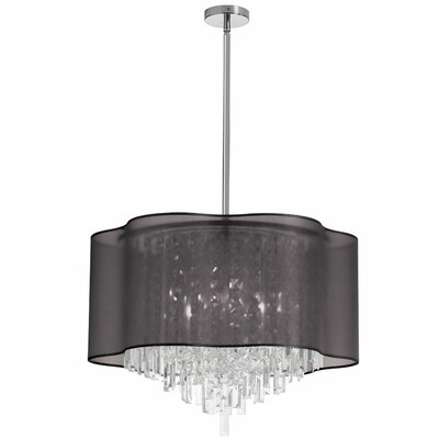 Illusion 8-Light Crystal Pendant Shade Color: Black