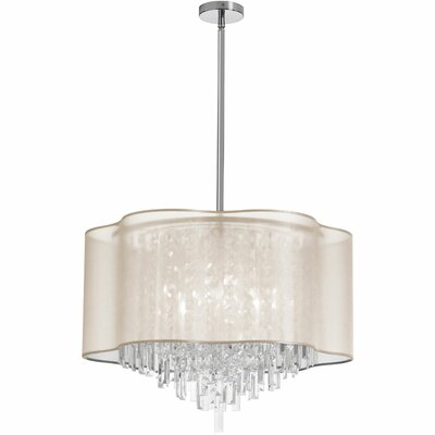 Illusion 8-Light Crystal Pendant Shade Color: Oyster