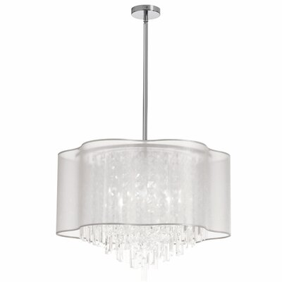 Illusion 8-Light Crystal Pendant Shade Color: White