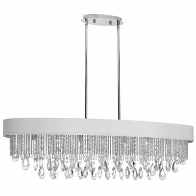 Intermezzo 7-Light Kitchen Island Pendant Shade Color: White