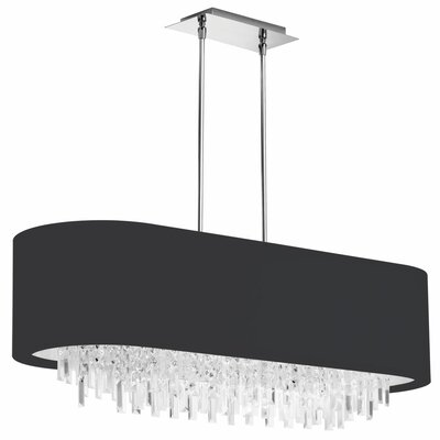 Jasmine 8-Light Kitchen Island Pendant Shade Color: Black