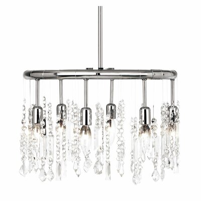 Bohemian 6-Light Crystal Chandelier