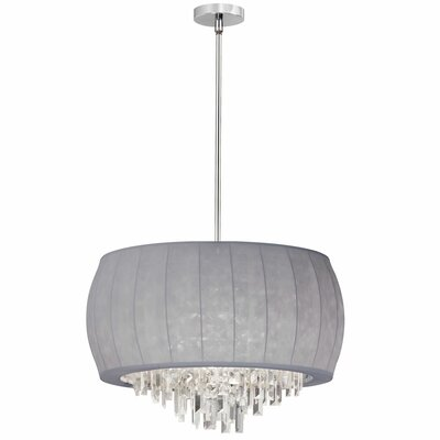 Maya 6-Light Drum Pendant Shade Color: Silver