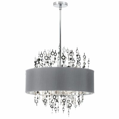 Picabo 8-Light Drum Pendant Shade Color: Silver