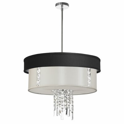 Rita 3-Light Drum Pendant Shade Color: White
