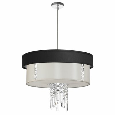 Rita 3-Light Drum Pendant Shade Color: Pearl
