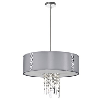 Rita 3-Light Drum Pendant Shade Color: Steel