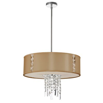 Rita 3-Light Drum Pendant Shade Color: Latte