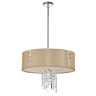 Rita 3-Light Drum Pendant Shade Color: Cream