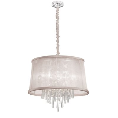 Julia 6-Light Drum Pendant Shade Color: Oyster