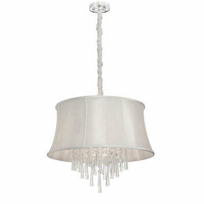 Julia 6-Light Drum Pendant Shade Color: Pearl