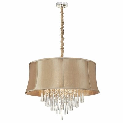 Julia 8-Light Drum Pendant Shade Color: Latte