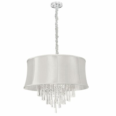 Julia 8-Light Drum Pendant Shade Color: Pearl