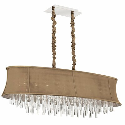 Julia 8-Light Kitchen Island Pendant Shade Color: Latte