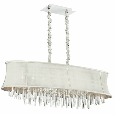 Julia 8-Light Kitchen Island Pendant Shade Color: Pearl