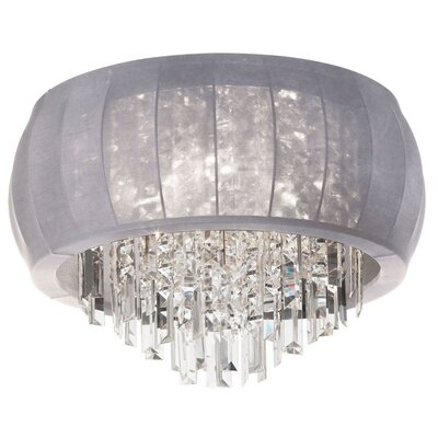 Maya 8-Light Flush Mount Shade Color: Silver Lycra