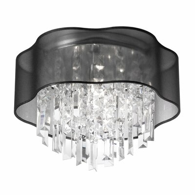 Illusion 3-Light Flush Mount Shade Color: Black