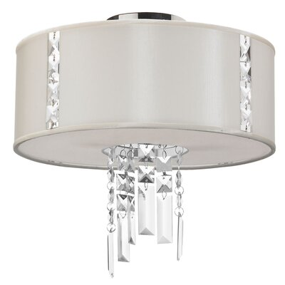 Rita 2-Light Semi Flush Mount Shade Color: Pearl