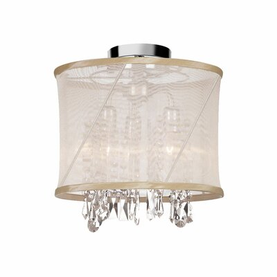 Saffron 3-Light Semi Flush Mount