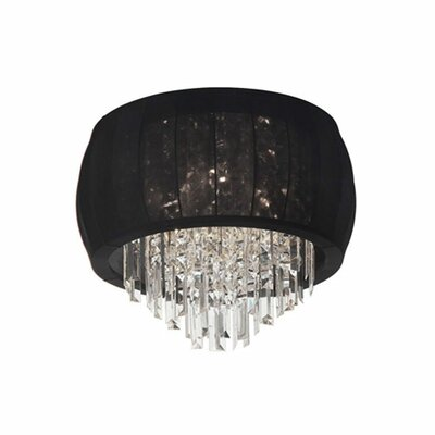 Maya 4-Light Flush Mount Shade Color: Black Lycra