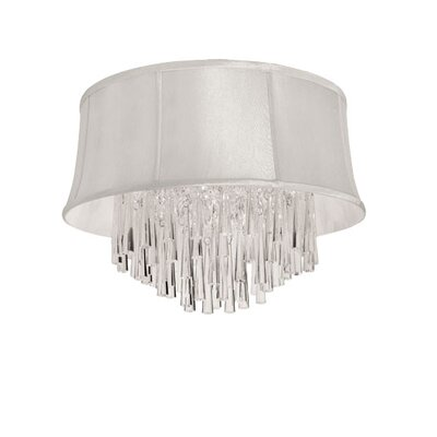 Julia 3-Light Flush Mount Shade Color: Pearl
