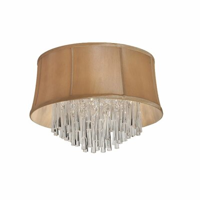 Julia 3-Light Flush Mount Shade Color: Latte