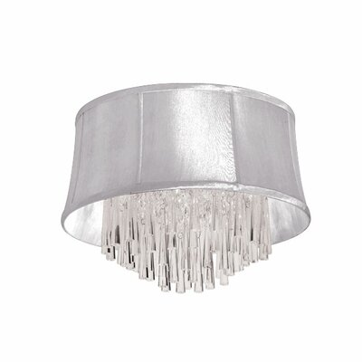 Julia 4-Light Flush Mount Shade Color: White  Organza