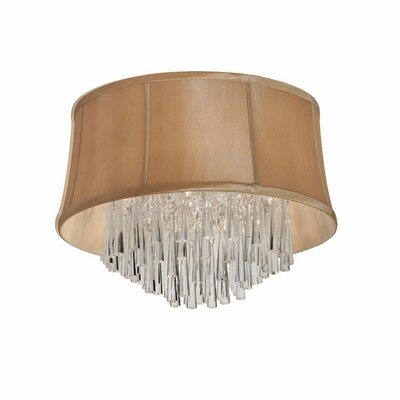 Julia 4-Light Flush Mount Shade Color: Latte