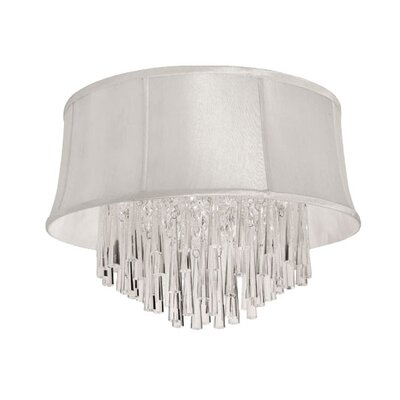Julia 4-Light Flush Mount Shade Color: Pearl