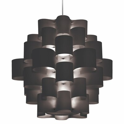 Zulu 10-Light Geometric Pendant Shade Color: Black