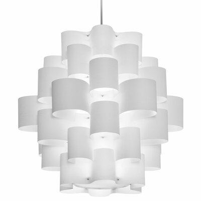 Zulu 10-Light Geometric Pendant Shade Color: White