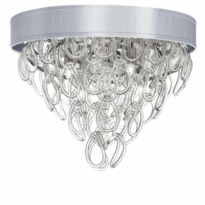 Cristallo 4-Light Flush Mount Shade Color: Silver